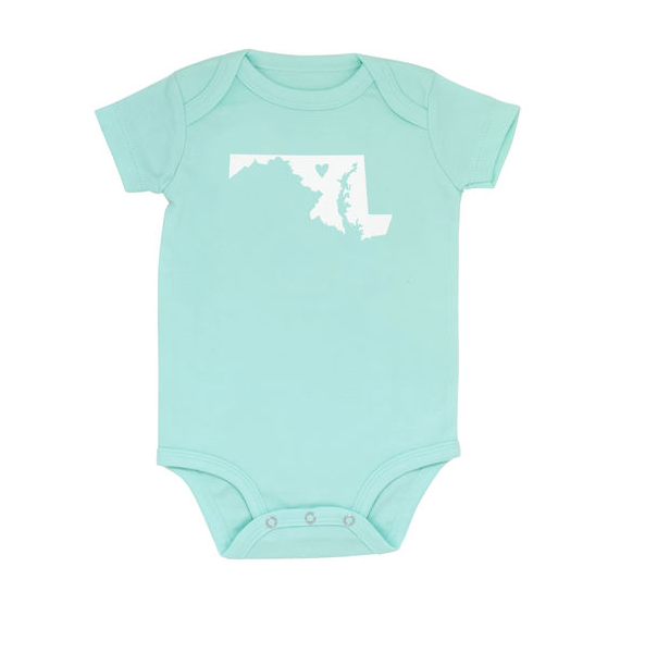 About Face Designs Maryland Onesie 9-12 Months