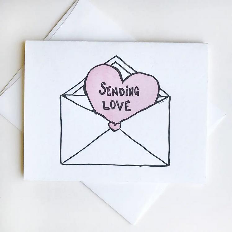 Steel Petal Press Love Envelope Card