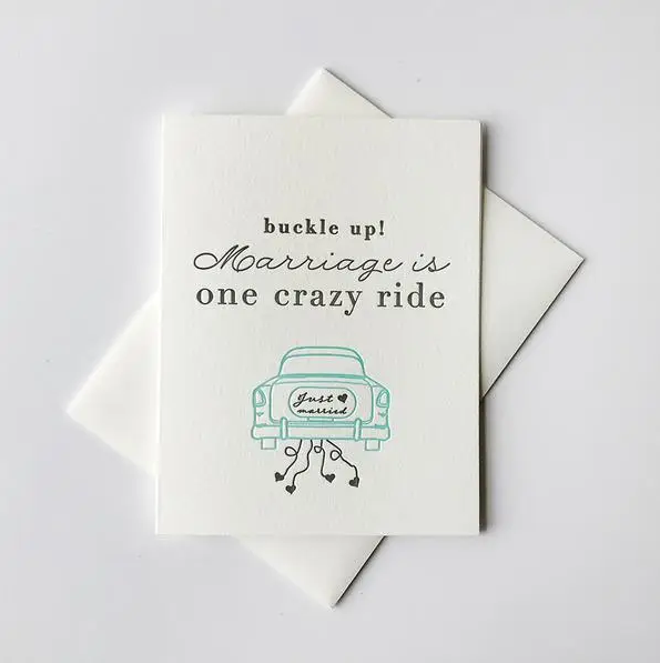 Steel Petal Press Crazy Ride Wedding Card