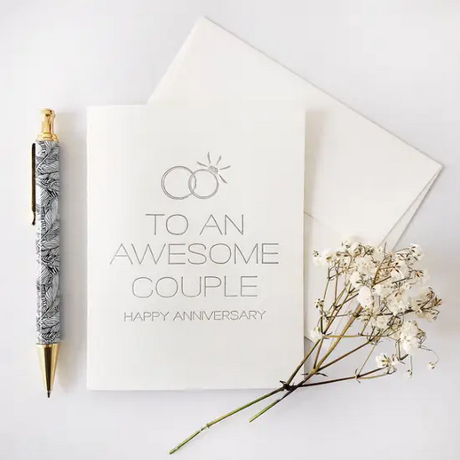 Steel Petal Press Awesome Couple Anniversary Card