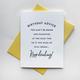 Steel Petal Press Keep Drinking Birthday Card