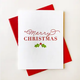 Steel Petal Press Merry Chritmas Holly Set of 6 Cards