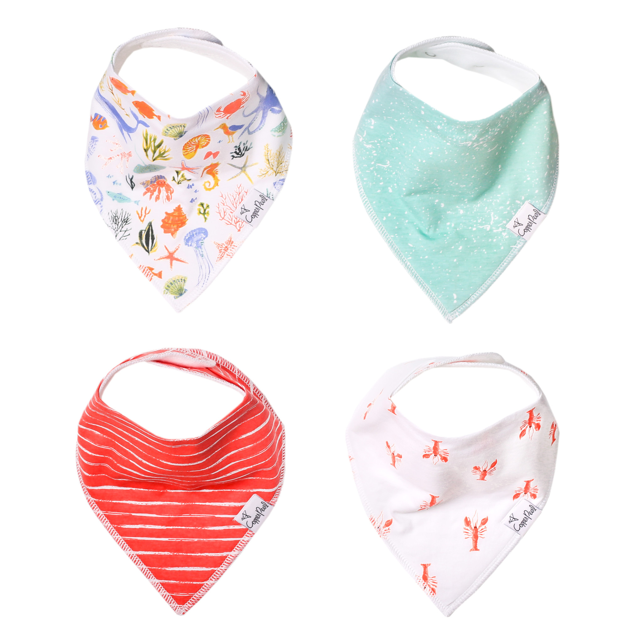 Copper Pearl Bandana Bib Set Nautical