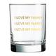 Chez Gagne I Love My Family Rocks Glass