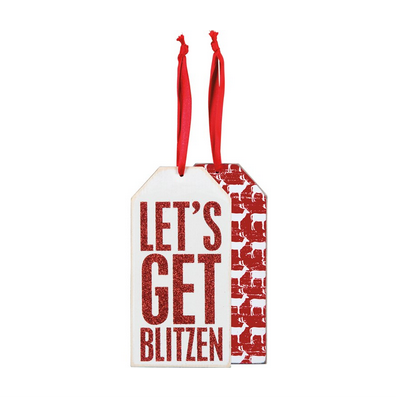 Primitives By Kathy Bottle Tag - Get Blitzen