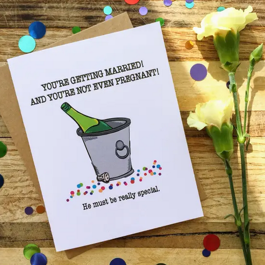 Wild Card Creations Not Even Pregnant Engagement Card