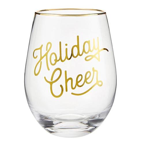Creative Brands Holiday Cheer Wine Glass