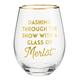 Creative Brands Dashing Through the Merlot Wine Glass