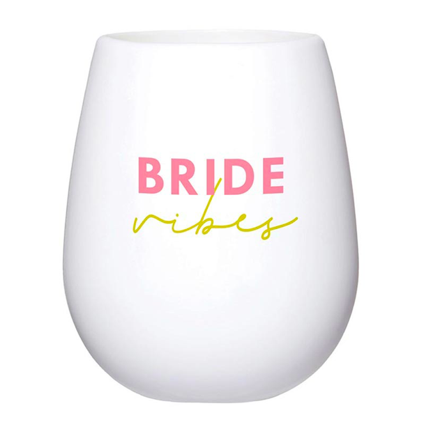 Creative Brands Bride Vibes Silicone Wine Glass