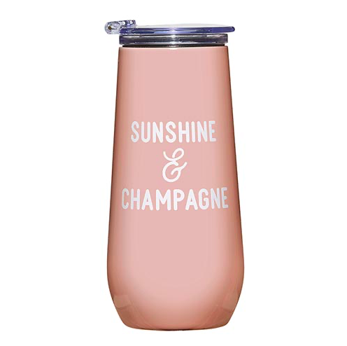 Creative Brands 12 oz Champagne Tumbler - Sunshine & Champagne
