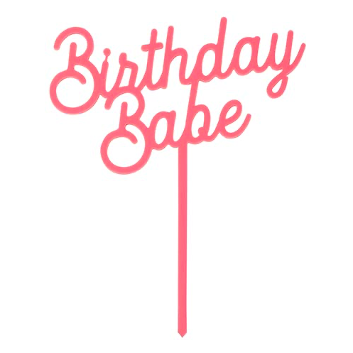 Creative Brands Birthday Babe Cake Topper