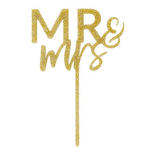 Creative Brands Mr & Mrs Cake Topper