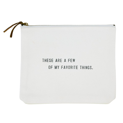 Creative Brands Few Things Canvas Zip Pouch