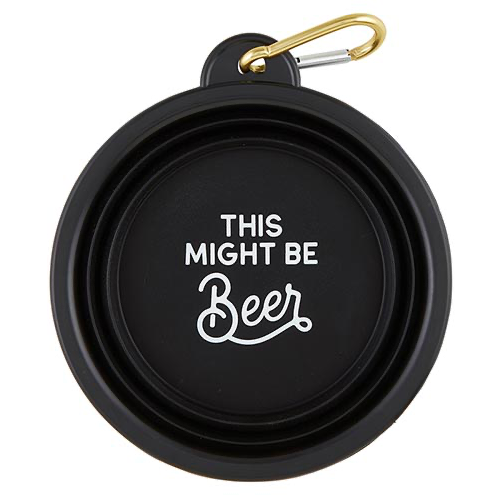 Creative Brands Collapsible Bowl - Might Be Beer