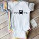 Paper Cow Clothing BMORE Crab Baby Bodysuit White