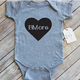 Paper Cow Clothing BMore Heart Baby Bodysuit Gray