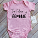 Paper Cow Clothing Future is Female Baby Bodysuit Pink