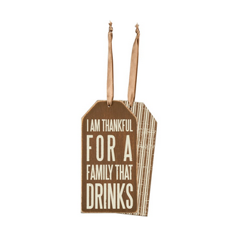 Primitives By Kathy Bottle Tag - That Drinks
