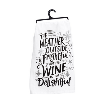 Primitives By Kathy Dish Towel - Wine Delightful