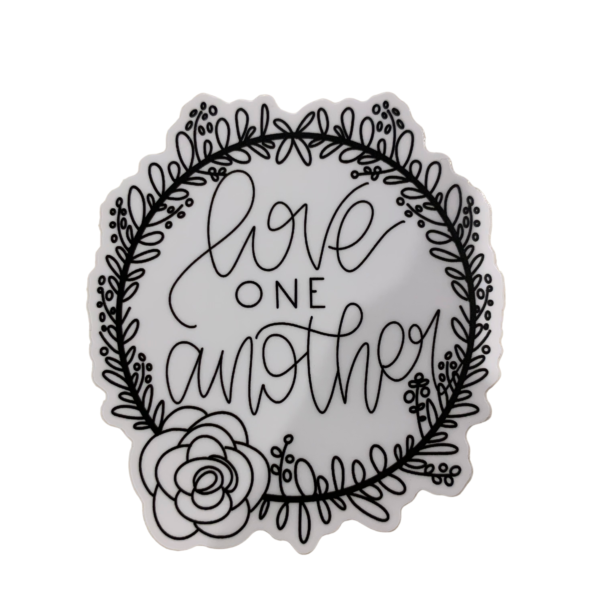 Lizzylovesletters Love One Another Sticker