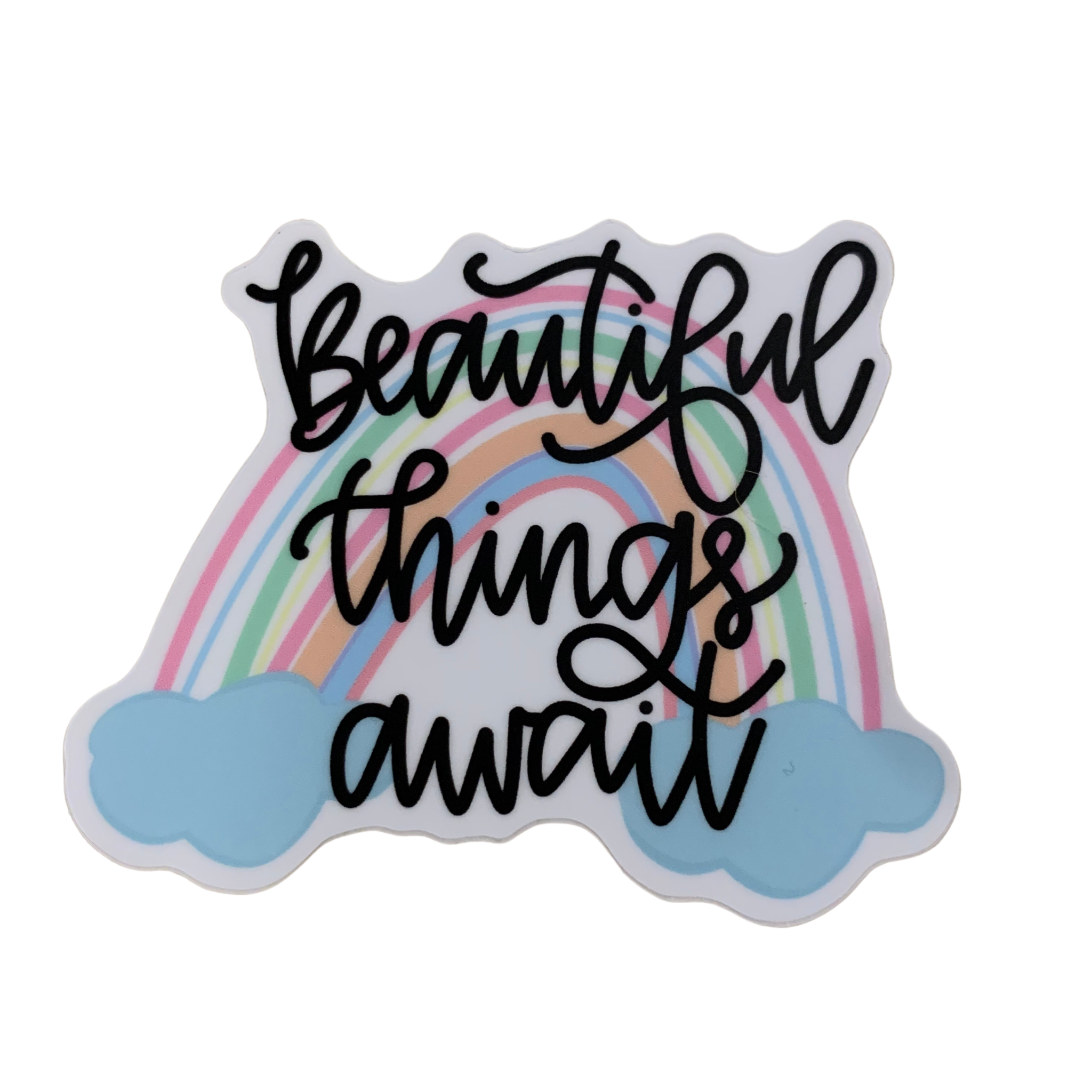Lizzylovesletters Beautiful Things Await Sticker