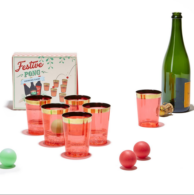 Two's Company Festive Pong Drinking Game