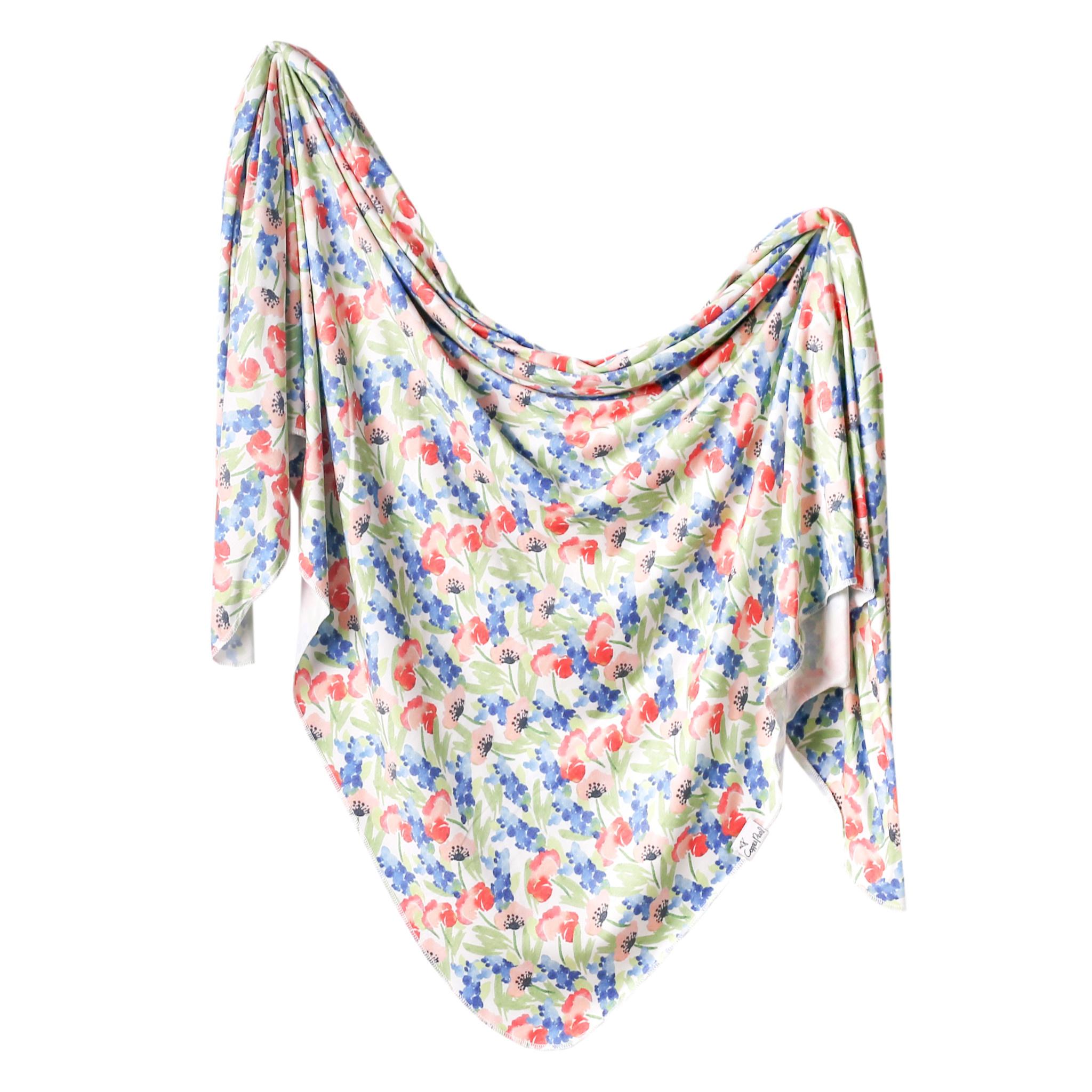 Copper Pearl Knit Swaddle Blanket Wren