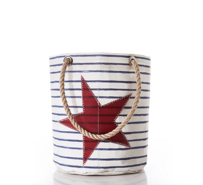 Sea Bags Breton Stripe and Star Beverage Bucket