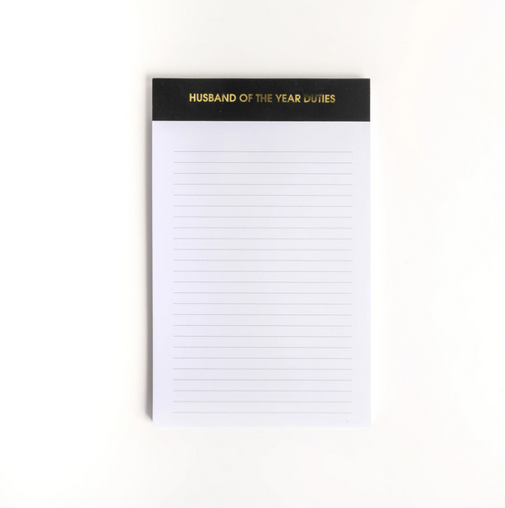 Chez Gagne Husband of the Year Duites Notepad