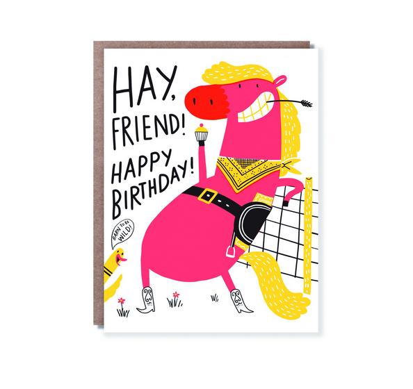 Egg Press Haaay Birthday Card