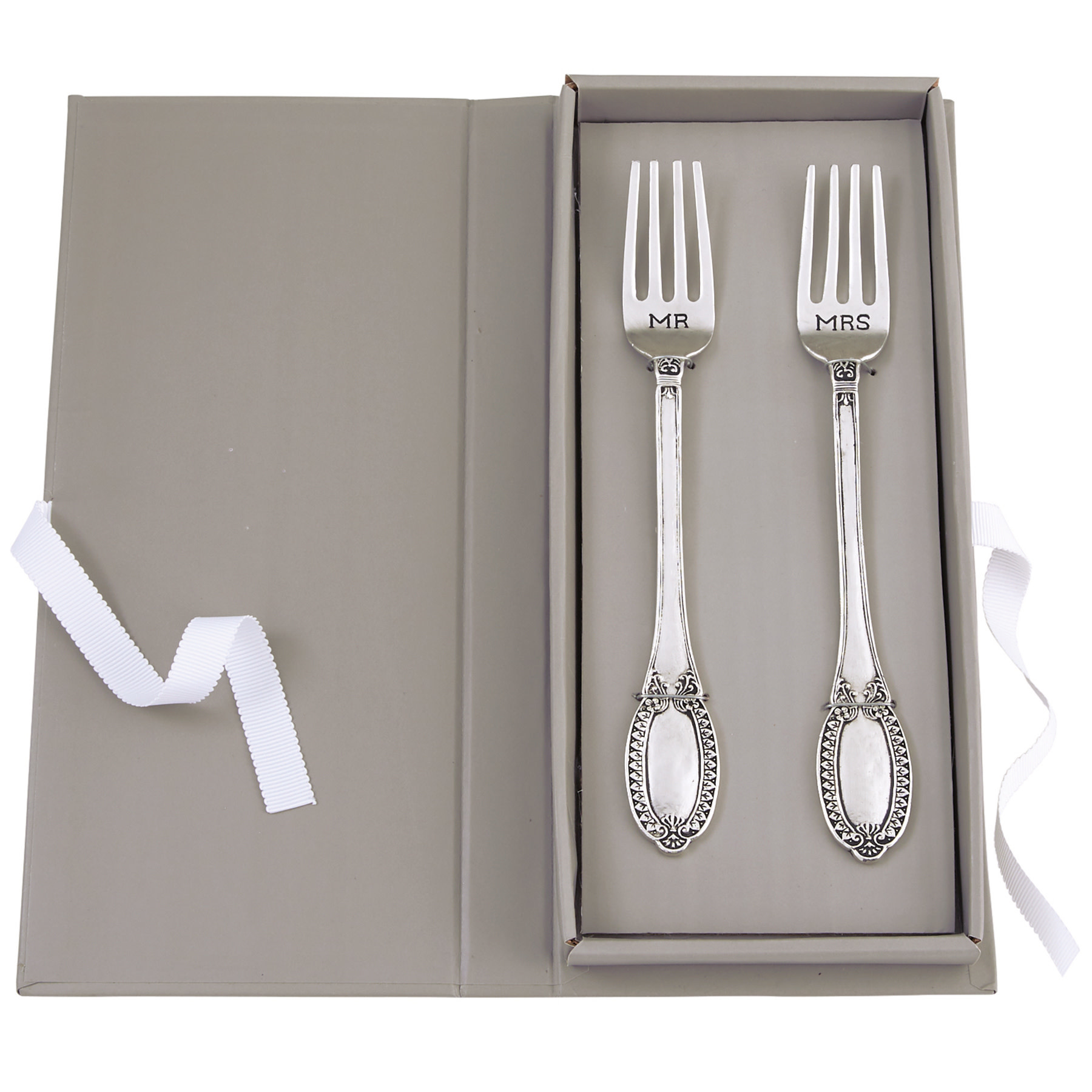 Mud Pie Mr. & Mrs. Wedding Fork Set