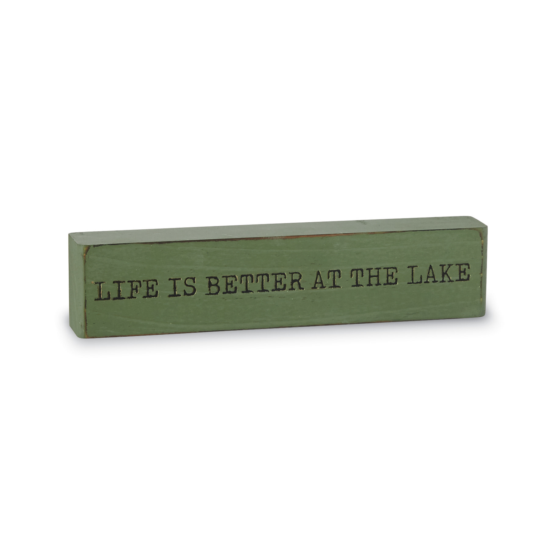 Mud Pie LIFE WOOD RETREAT PLAQUE