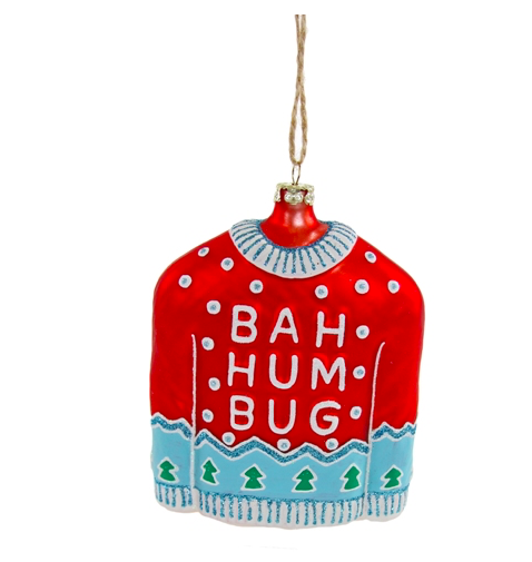 Cody Foster & Co Bah Humbug Sweater Ornament