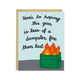 Row House 14 Dumpster Fire Card