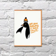 Bench Pressed Chill Penguin Birthday Card