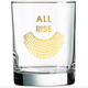Chez Gagne All Rise RBG Collar Rocks Glass