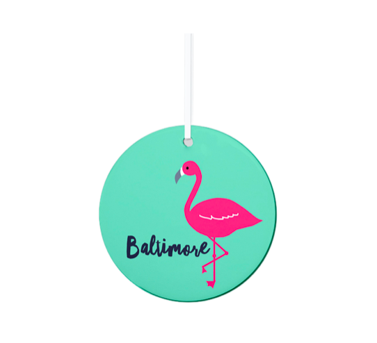 Rock Scissor Paper Baltimore Flamingo Ornament
