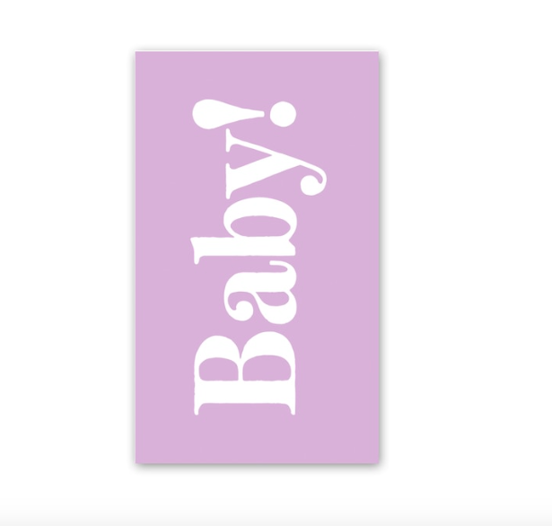 Rock Scissor Paper Lilac Baby Enclosure Card
