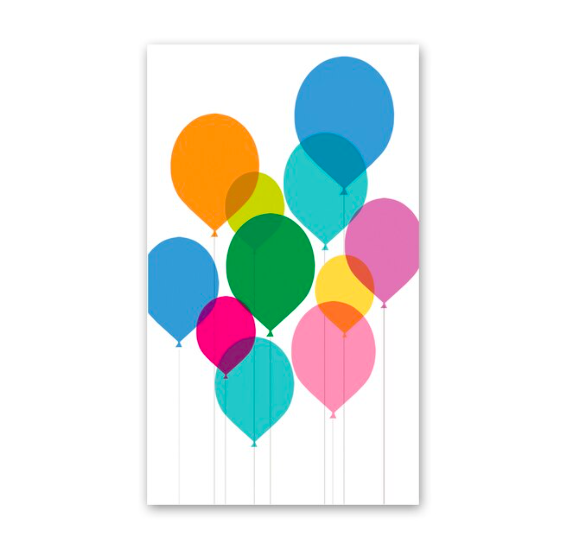 Rock Scissor Paper Balloons Enclosure Card
