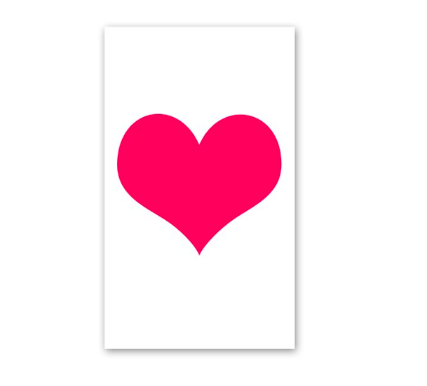 Rock Scissor Paper Big Heart Enclosure Card