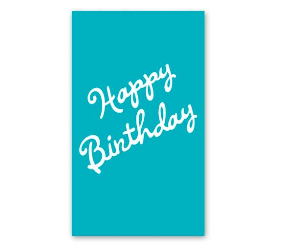 Rock Scissor Paper Happy Birthday Cursive Enclosure Card