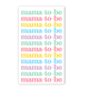 Rock Scissor Paper Mama-to-Be Enclosure Card