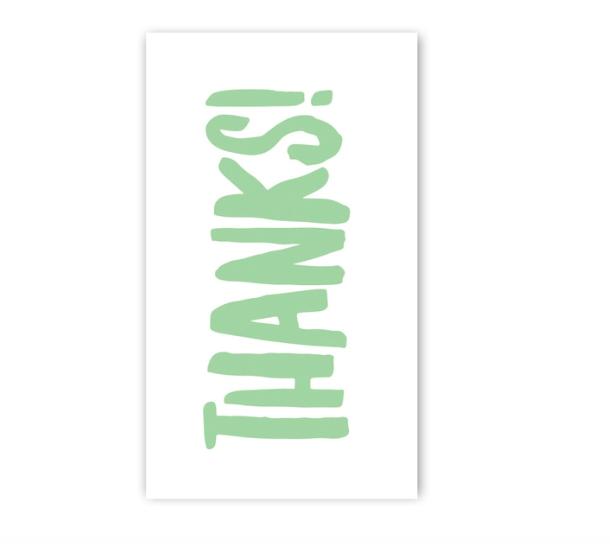Rock Scissor Paper Thanks Enclosure Card