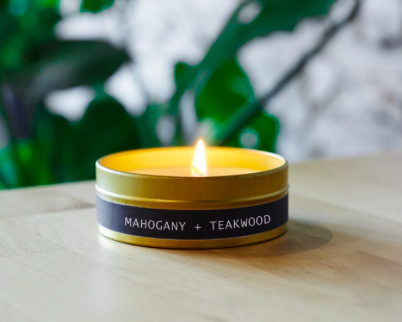 Grant Street Candle Co. Mahogany + Takewood 4oz Travel Tin Candle