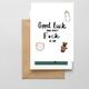 NoraJayne Goodluck Baby Card