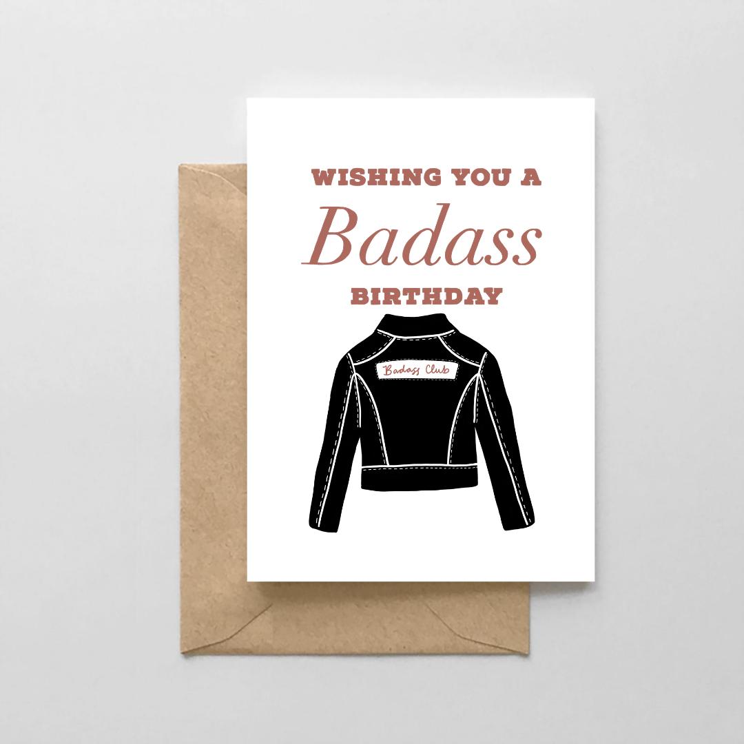 NoraJayne Badass Birthday Card
