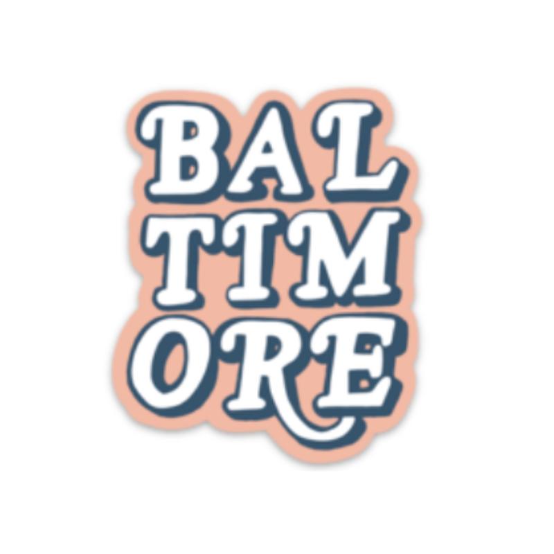 NoraJayne BMORE Lettering Sticker