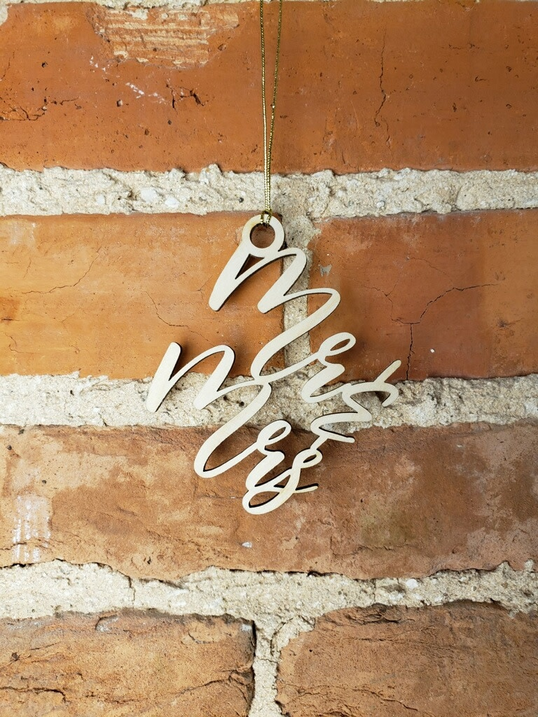 LeRoy Woodworks Mr & Mrs Stacked Ornament