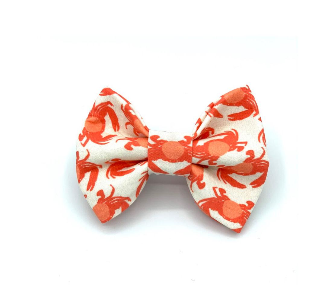 Banjo's Bows Crabby Orange Dog Bow Tie