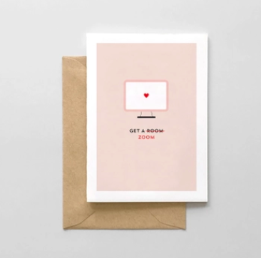 Spaghetti & Meatballs Get a Room/Zoom Valentine's Day Card